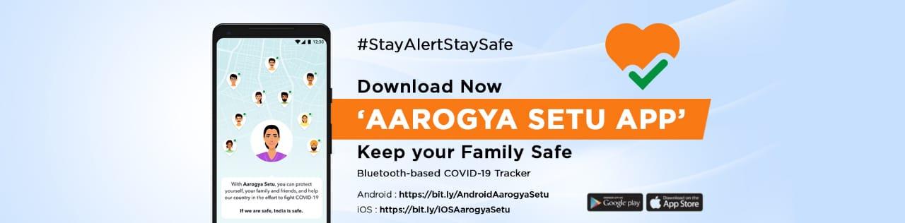 Aarogya Setu App banner